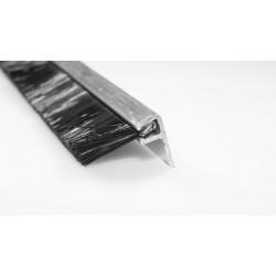 Uszczelka szczotkowa aluminiowa, kątowa 1 m x 10 mm, 01-088