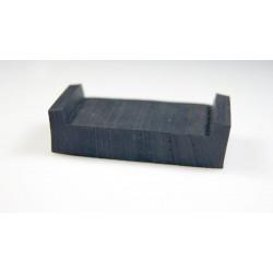 Gumowa osłona EPDM na krawędź 10 mm, czarna 68-879
