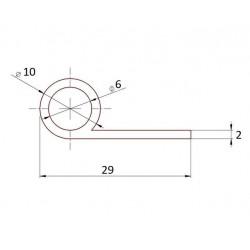 Uszczelka silikonowa, termiczna fi 10 mm mm, 023055