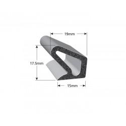 Uszczelka samoprzylepna 16x16 mm czarna z klejem 3M do jachtów, 07991