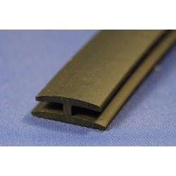 Uszczelka PVC typ H 15/13 na krawędź 2mm czarna,12-181