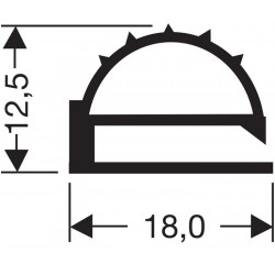 Uszczelka drzwi chłodni czarna, 32-092