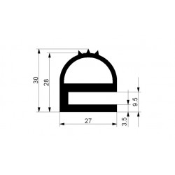 Uszczelka czarne lite EPDM typ E