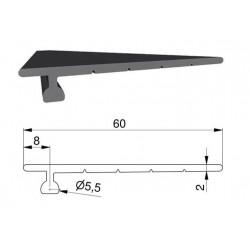 Uszczelka gumowa bramy garażowej L-36 mm, 57-110