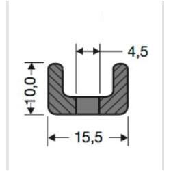 Profil mocujący PVC uszczelki drzwi chłodni, 32-449