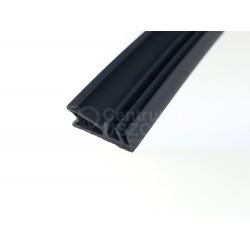 Uszczelka do drzwi zewnętrznych drewnianych, czarna 09-700-02