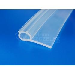 Uszczelka typ P, profil uszczelniający silikon transparentny, 023082