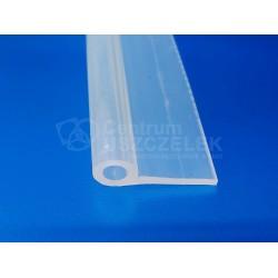 Profil silikonowy typ P, fi 10 mm transparentny, 023090
