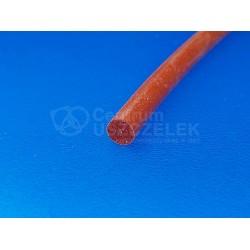 Sznur silikonowy czerwony fi 2 mm lity 60 Sha, 019001