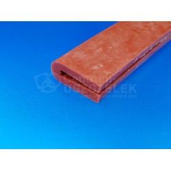 Uszczelka silikonowa czerwona na krawędź 2 mm, 023020-01