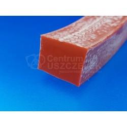 Taśma silikonowa 17x18 mm lity silikon, czerwony, 023022