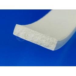 Taśma silikonowa 5x10 mm miękki silikon, biały 023033