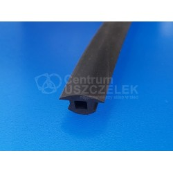 Profil gumowy T czarne EPDM, wciskany 12-352
