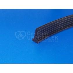 Uszczelka silikonowa czarna, wciskana, typ T, 023001