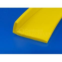 Profil z miękkiego PVC, kątownik żółty, 12-620