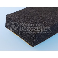 Uszczelka czarna mikroguma z klejem 10x60 mm, 016610