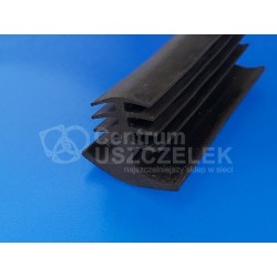 Profil gumowy T czarne EPDM, wciskany 68-8011