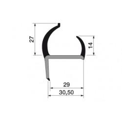 Uszczelka drzwi PVC 30,5 mm 19-127