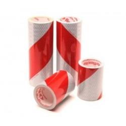 Taśma ukośna na pojazdy specjalistyczne i kontenery, biało-czerwona, 44-009