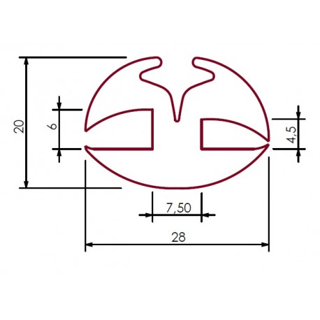 Uszczelka do szyby 6 mm EPDM 39-603