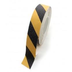 Taśma antypoślizgowa żółto-czarna 18mmx25m,  81-433