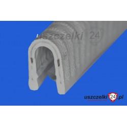 Uszczelka, osłona krawędzi, zaciskowa jasnoszara,  PVC 78-013