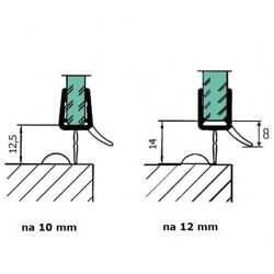 Uszczelka kabiny prysznicowej 10-12 mm, 89-091