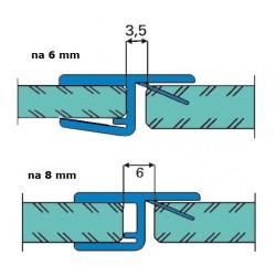 Uszczelka kabiny prysznicowej 6-8 mm, 89-518