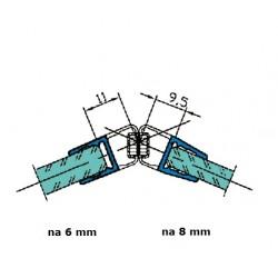 Uszczelka kabiny prysznicowej 6-8 mm z magnesem, 89-515