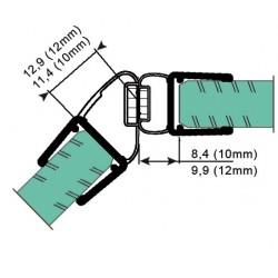 Uszczelka kabiny prysznicowej 10-12 mm z magnesem, 89-016
