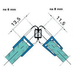 Uszczelka kabiny prysznicowej 6-8 mm z magnesem, 89-529