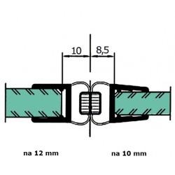 Uszczelka kabiny prysznicowej 10-12 mm z magnesem, 89-032