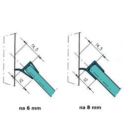 Uszczelka kabiny prysznicowej 6-8 mm, 89-491