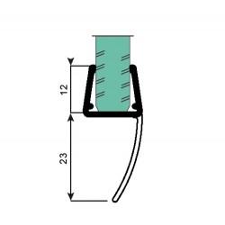 Uszczelka kabiny prysznicowej 10 + 12 mm, 89-093