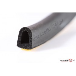 Uszczelka samoprzylepna D czarna, 12-502-02