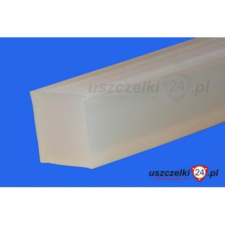 Taśma silikonowa 10x10 mm lity silikon, 12-704-09