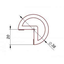 Odbój, zderzak samoprzylepny fi 38 mm, 039354