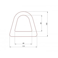 Zderzak, odbój gumowy profil delta, 00-005