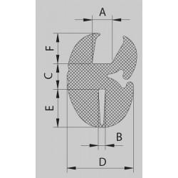 Uszczelka do szyby 4 mm EPDM 78-107