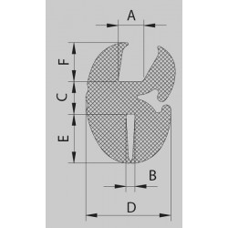 Uszczelka do szyby 5 mm EPDM 78-114