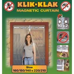 Moskitiera magnetyczna czarna 160/150/140 x 220/210, 039798