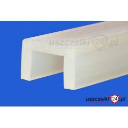 Uszczelka silikonowa transparentna na krawędź 12 mm, 023024
