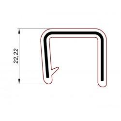 Uszczelka, osłona krawędzi, zaciskowa czarne PVC, 038156
