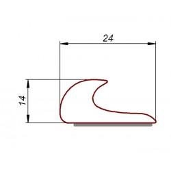 Okapnik samoprzylepny, białe PVC 24x14 mm, 038224