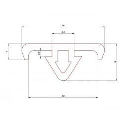 Profil gumowy do stojaków i palet, 68-113