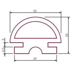 Silikonowa uszczelka drzwi, 68-088