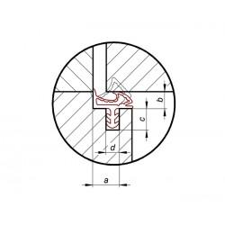 Uszczelka beżowa do drzwi drewnianych, do ościeżnicy, 09-667-02