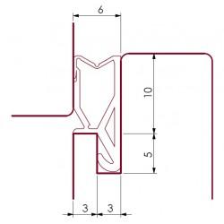 Uszczelka okienna, krawędziowa TPE, szara 09-762