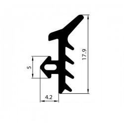 Uszczelka okienna EPDM do okien PCV S-1124, 12-821