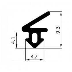 Uszczelka okienna EPDM do okien PCV S-1125, 12-822